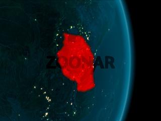 Tanzania at night