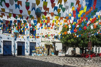 Historic town Sao Luis is preparing for the traditional holiday of bulls, Maranhao State, Brazil