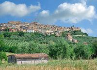 der Kurort Chianciano Terme in der Toskana in der Provinz Siena,Italien