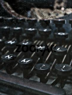 Taste M einer Schreibmaschine