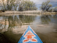 Stand up paddling at springtime