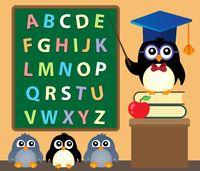 School penguins theme image 3