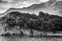 Montenegro mountain and sea landscape