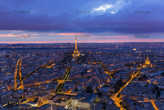 Cityscape of Paris France