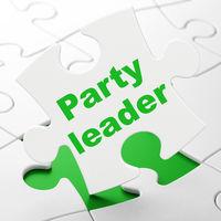 Politics concept: Party Leader on puzzle background