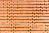Orangene Backsteinwand
