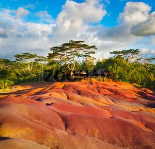Seven colour earth. Mauritius.
