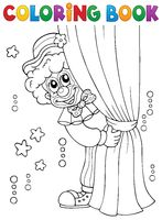 Coloring book clown thematics 1