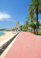 Strandpromenade in Lloret de Mar,Costa Brava,Katalonien,Mittelmeer,Spanien