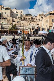 Morning autumn Sukkot in Jerusalem
