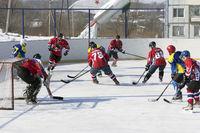 ARSENYEV, RUSSIA - FEB 22: Ice Hockey, the game of regional amateur teams on February 22, 2016 in Arsenyev, Russia.