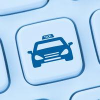 Taxi online buchen bestellen Internet blau Computer web