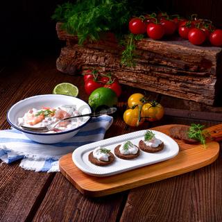 rustic crab salad