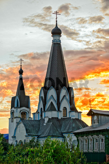Old church in russian village