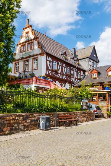 Rüdesheim am Rhein, histsorisches Gebäude (Gaststätte