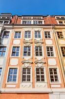 Historische, wiederaufgebaute Gebäude in der Altstadt von Dresden
