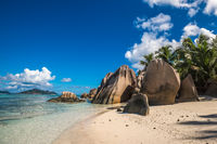 Tropical island beach, Source d'Argent, La Digue, Seychelles