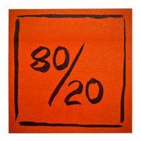 Pareto principle on isolated sticky note
