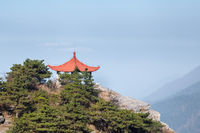 traditional pavilion on mount lushan