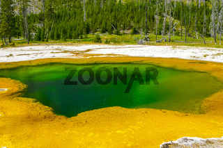 Opal Pool Yellowstone Park
