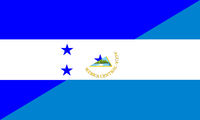 honduras nicaragua flag