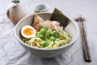 Ramen Fish Soup in Bowl