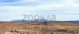 Peruvian  stones Nasca desert panorama