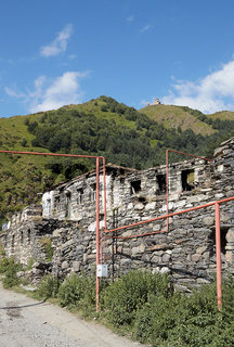 Stepantsminda im Kaukasus, Georgien