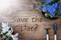 Sunny Spring Flowers, Text Save The Date