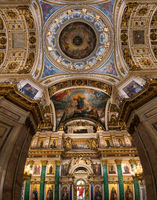 Ceiling painting of St Isaac's Cathedral Russia