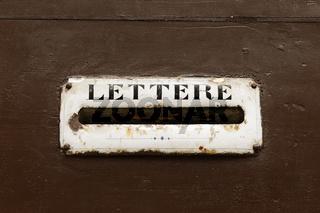 Mailbox on a door