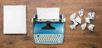 Old electric typewriter for novel with many failed attempts