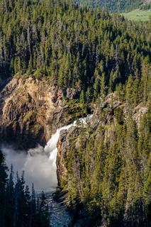 Upper Falls waterfall in Grand Canyon of Yellowstone