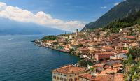 Panoramic view of Limone sul Garda, Italy