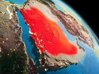 Morning over Saudi Arabia on Earth
