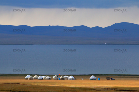 Jurtenlager für Touristen am Songköl-See (Son Kul, Song Kol), Kirgisistan