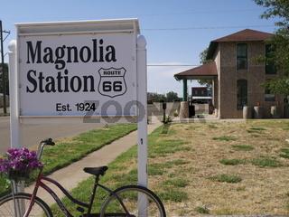 Magnolia Tankstelle von 1924,Vega,Texas,Route 66