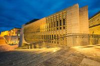 Beautiful architecture illuminated at evening,Malta
