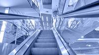 Perspective of escalator