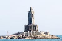 Statue of Thiruvalluvar, Tamil poet and philosopher, in Kanyakumari, India