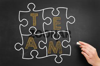 Zusammenarbeit im Team Konzept