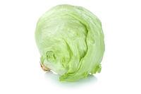 Eisbergsalat Salat Salatkopf frisch Gemüse Freisteller freigestellt isoliert