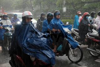 heavy rain, rainy season at Ho Chi Minh city