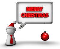 sprechblase mit merry christmas text