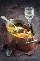 Bouillabaisse in Copper Pot