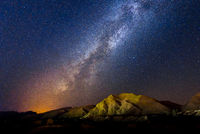 milky way in the desert