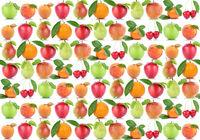 Früchte Hintergrund Apfel Orange Frucht Äpfel Aprikose Orangen Kirschen Obst