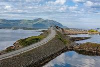Atlantic road in Hulvagen, Norway