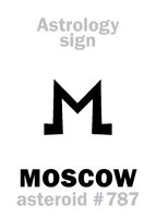 Astrology: asteroid MOSCOW