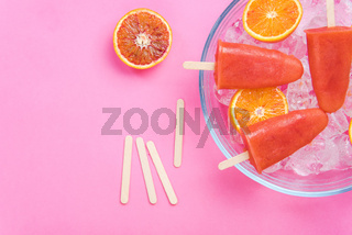 Blood orange homemade popsicles